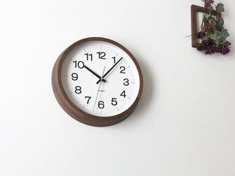 KATOMOKU muku round wall clock 16 L-size km-113WARC 電波時計の画像