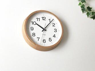 KATOMOKU muku round wall clock 16 L-size km-113OARC 電波時計の画像