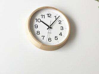 KATOMOKU muku round wall clock 16 L-size km-113HIRC 電波時計の画像