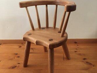 小椅子 ch1111 クルミ 子ども椅子の画像