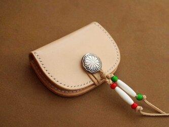 手縫いのコンチョコインケース【受注製作】の画像