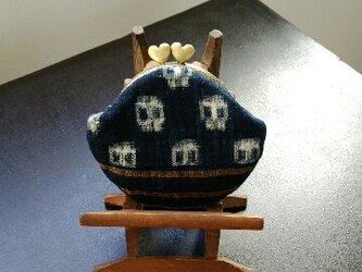 藍木綿古布 がま口の画像