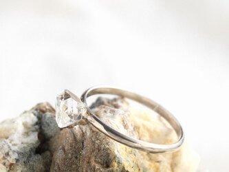 Herkimer Diamond Simple Ring SV925 ハーキマーダイヤモンドのシンプルリングの画像