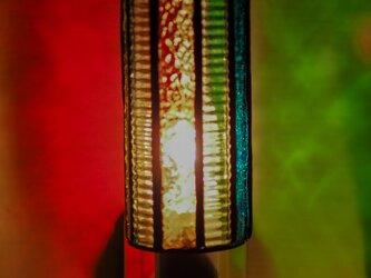 「おやすみランプ・10面体・マルチカラー」ステンドグラスランプ フットランプの画像