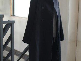 【秋冬NEW】ベルギーリネン25番手厚手リネンコート の画像