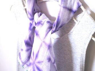 花まり*雪花絞りの日本製ダブルガーゼ首巻きの画像