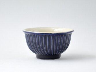 コバルトブルーしのぎのお茶碗 大の画像