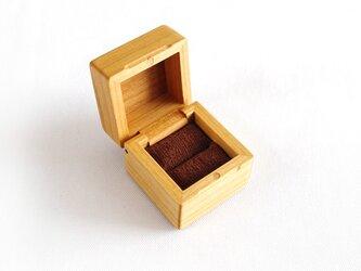 木製指輪入れ/ヤマザクラ(縞々)/リングケースの画像