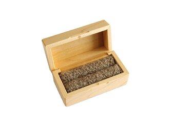 木製指輪入れ(ツイン)/イタヤカエデ/リングケースの画像
