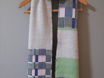 セール Doublelamb  long scarf #1 - Blue stripesの画像