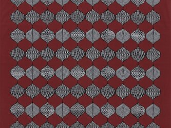 風呂敷 ふろしき    芹沢銈介 立涌幾何文 赤茶 綿100% 130cm×130cmの画像