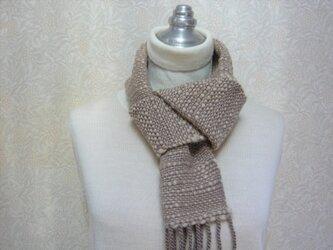 草木染毛糸の手織りマフラー M-132の画像