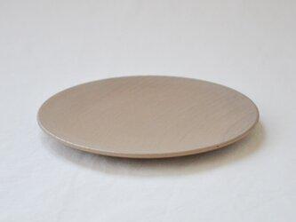 ichi Plate maru L /薄茶の画像