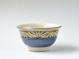 緑釉唐草文のお茶碗 大の画像