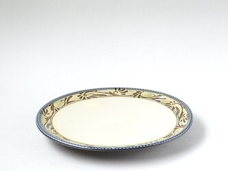 緑釉唐草文 7寸皿の画像