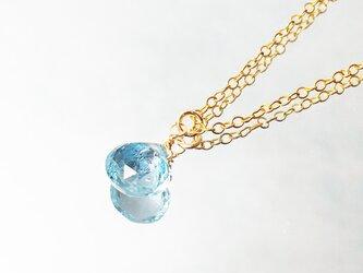 【11月誕生石】美しい空色。スカイブルー・トパーズのネックレス [送料無料]の画像