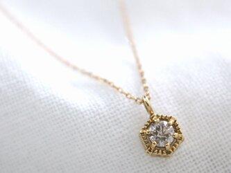 ブラウンダイヤの六芒星ネックレス Hexaglam Necklace w/K18Gold Brown Dia 0.1ctの画像