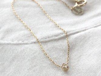 """天然ダイヤモンドのブレスレット""""雫"""" Natural Diamond Drop Bracelet w/K10YGの画像"""