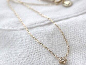 """天然ダイヤモンドのブレスレット""""輝"""" Natural Diamond Drop Bracelet w/K10YGの画像"""