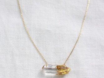 """""""漆塗り""""天然水晶の原石ネックレス Rough Rock Natural Quartz Necklace Urushi K10の画像"""