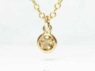 【11月誕生石】黄金の1粒。シトリンのネックレス [送料無料]の画像