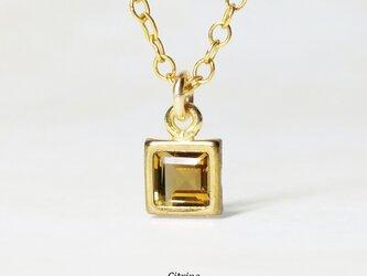 【11月誕生石】上品な1粒。シトリンのネックレス [送料無料]の画像