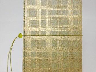 ギルディング和紙ケース(ストラップ付) 格子 鶯地 金箔の画像