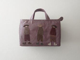 annco leather standard bag [purple]の画像