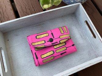 ■ミニ財布⭐︎マスカラ柄・ロバートカフマン☆USAコットンの画像