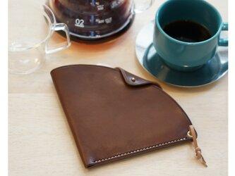 【新作】一枚革で作るコーヒーフィルターホルダー 手縫い キャンプにぴったり【選べる革とステッチ】【名入れ無料】の画像