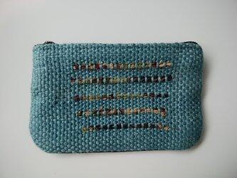手織りミニポーチ【送料無料】の画像