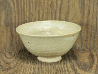 陶器ご飯茶碗(大)藁白釉変色【201005】の画像