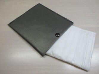 不織布マスクをお洒落に収納♪本革製・一枚革の不織布マスクケース・0117の画像