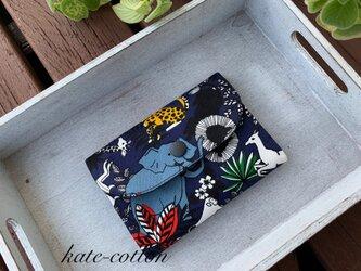 ■ミニ財布⭐︎アニマル・サファリ柄 !(紺色系)の画像