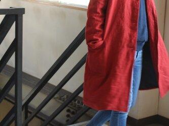 【冬NEW】ベルギーリネンRudeBackHalfのフーテッドコート【受注生産】 の画像