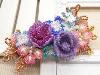 バレッタ Bouquet  (モーブチェリー)の画像
