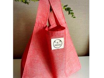 赤いエコバッグ♡お散歩バッグ♡コンビニバッグ♡の画像