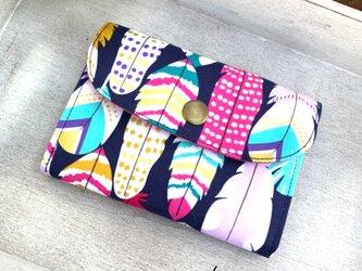 ■軽いミニ財布! USAコットン・マイケル・ミラー⭐︎羽根柄・フェザー柄の画像