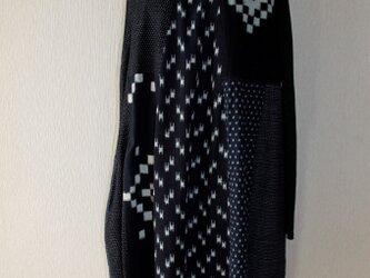 絣切替ジャンパースカート161010の画像