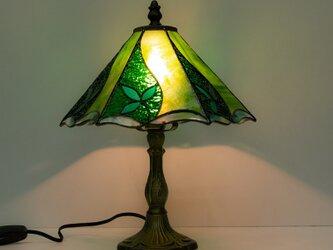 「リーフのスタンド型ランプ」ステンドグラスの画像