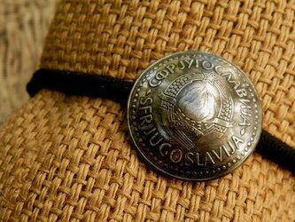 #H157 Yugoslavia Coin Hair Elasticの画像