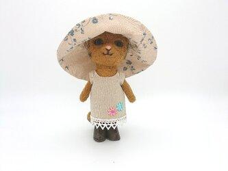 ちょっとおしゃまな茶トラ猫さん 羊毛フェルトの画像