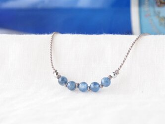 Blue Line Short Necklace(カイヤナイト)の画像