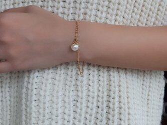 mili K18YG 宇和島アコヤパール Lotus braceletの画像