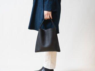 【受注製作】Mini Holiday bag レザー ブラックの画像