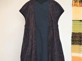 絹の紬コクーンワンピース_202013の画像