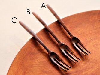 栃材縮杢のデザートフォーク 限定製作品 (type-SCT) の画像