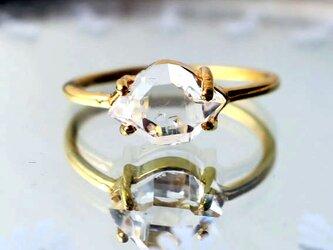 ハーキマーダイヤモンドSVK18GPリング-cの画像