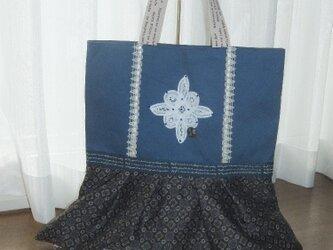 青のしぶ綺麗バッグの画像