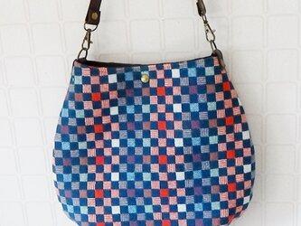 国産 尾州ウール 雫型バッグ の画像